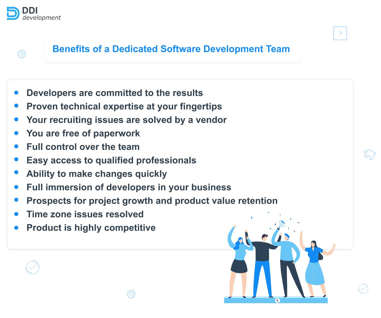 benefits of a dedicated software development team