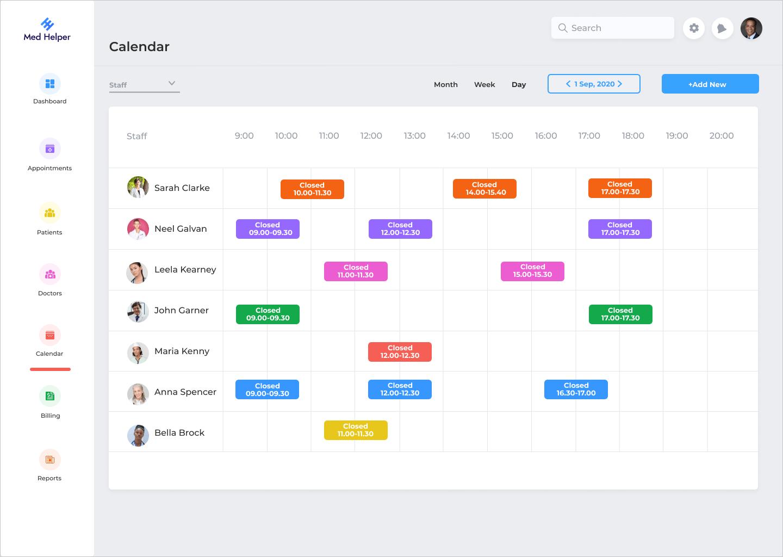 calendar for admin