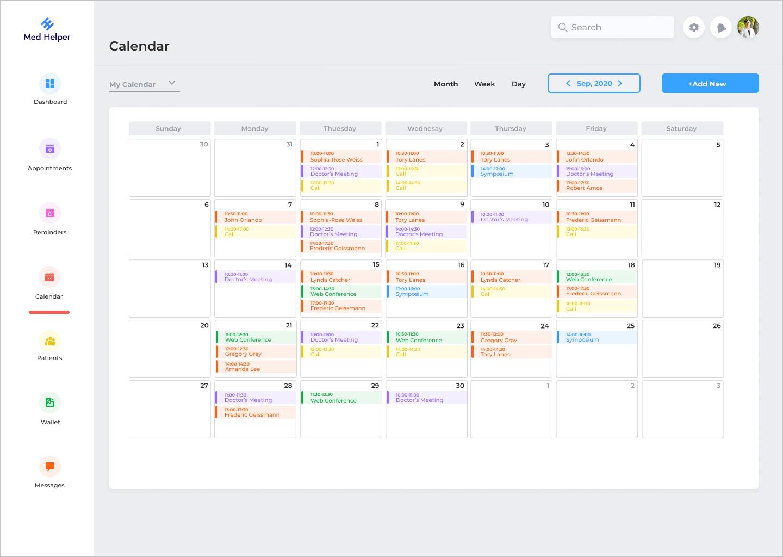 Calendar feature