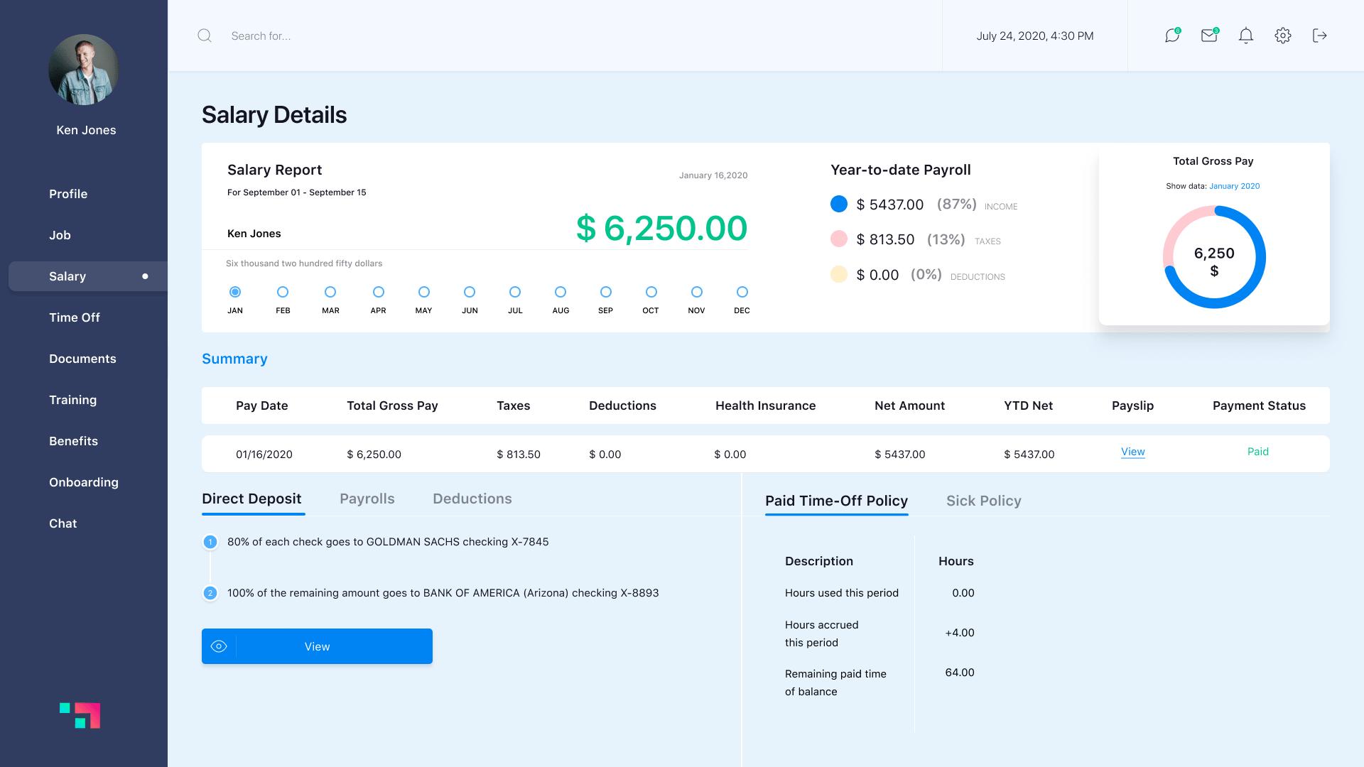 Salary option