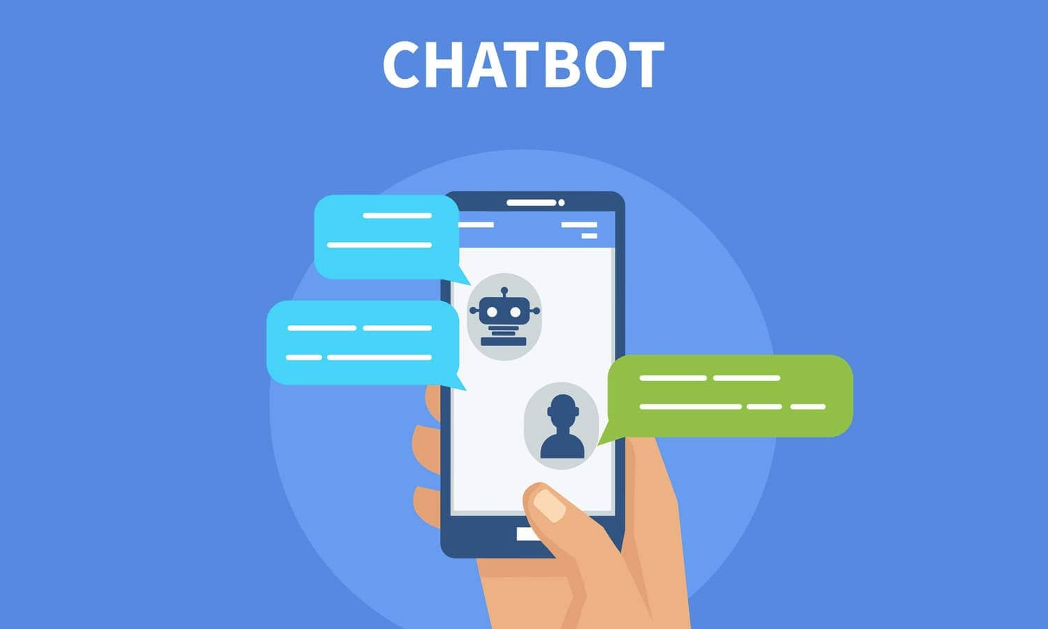A phone with chatbots for online marketing.