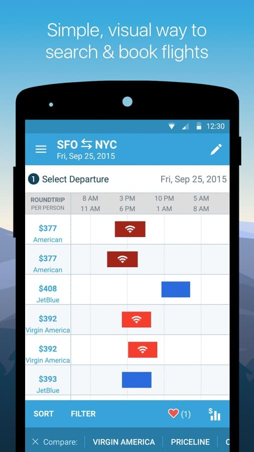 simple, visual way to search and book flights