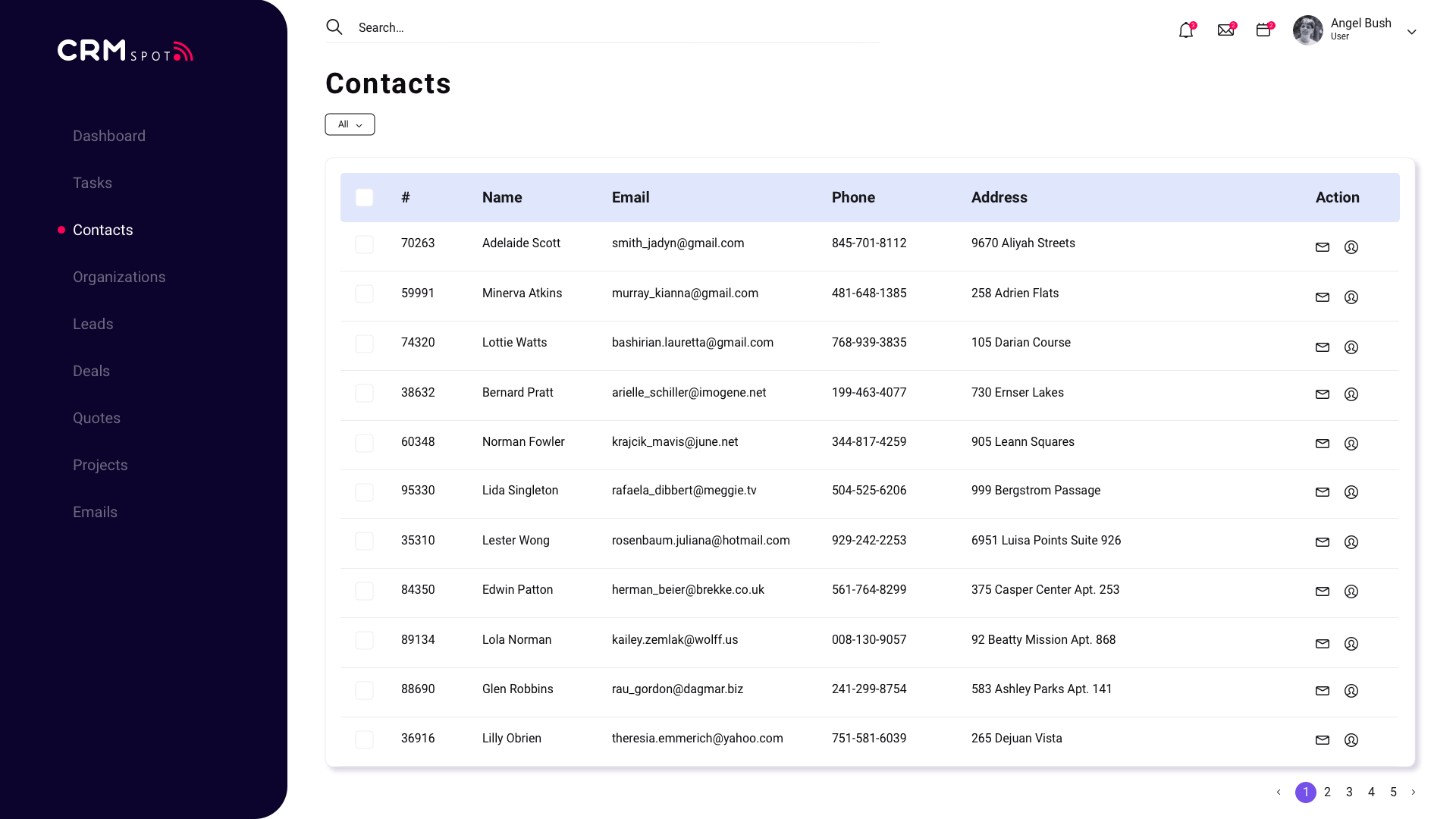 Contacts feature