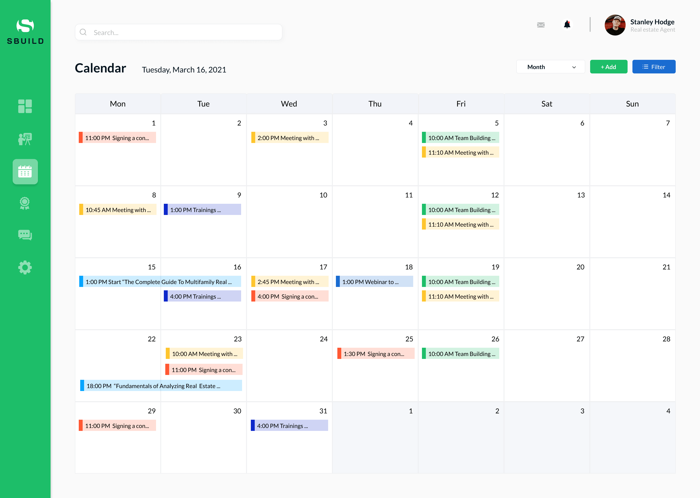 TMS calendar